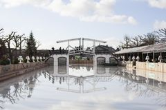Ice rink in Amsterdam royalty free stock photo