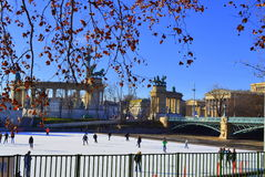 Ice rink Budapest Stock Image