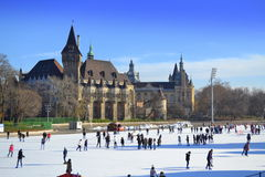 Ice rink Budapest Stock Photography