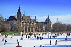 Ice rink Budapest Stock Photography