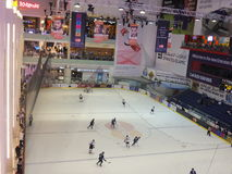 Ice Rink at Dubai Mall in the UAE Royalty Free Stock Image