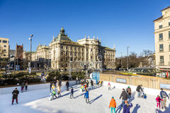 Ice Rink Eiszauber in Munich Royalty Free Stock Photo