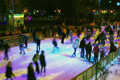 Ice rink in the Gorky park in Moscow Stock Photography