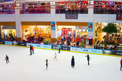 Ice rink indoor Stock Images