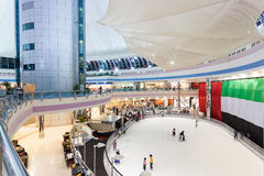Ice Rink inside of the Marina Mall in Abu Dhabi Stock Image