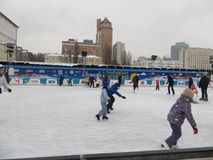 Ice Rink in Kiev.  Stock Photography