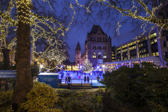 Ice Rink at the Natural History Museum in London Royalty Free Stock Images