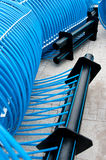 Ice rink plastic pipes Royalty Free Stock Photography