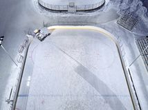 Ice rink, Ice resurfacer to clean and smooth the surface of a sheet of ice rink stock photo