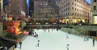 Ice Rink at Rockefeller center Royalty Free Stock Photo