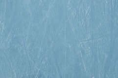 Ice rink with scratches. As a background Stock Photo