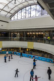 Ice rink in a shopping mall Stock Photography