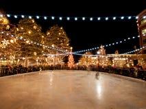 ice rink skating Στοκ Φωτογραφίες