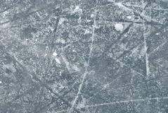 Ice rink with snow texture Stock Photography