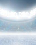 Ice Rink Stadium Stock Photo