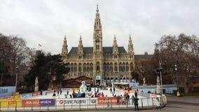 Ice Rink in Vienna. Stock Photos