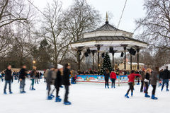 Ice rink at Winter Wonderland in London Stock Image