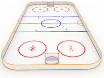 Ice rinks hockey Royalty Free Stock Images