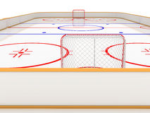 Ice rinks. hockey  Royalty Free Stock Photo