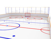 Ice rinks on a white surface. #11 Royalty Free Stock Photo