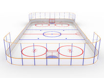 Ice rinks on a white surface. #9 Stock Photos