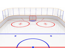 Ice rinks on a white surface. #8 Royalty Free Stock Image