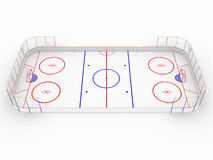 Ice rinks on a white surface. #6 Royalty Free Stock Image