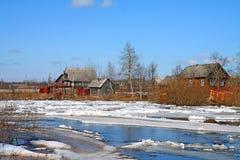 Ice on river Stock Photos