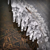 Ice on the river. Of ice on the river in autumn Stock Photo