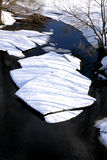 Ice on river Stock Photos