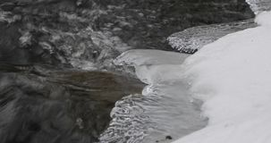 Ice in the river during the day.  stock video footage