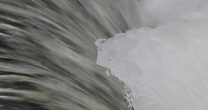 Ice in the river during the day.  stock footage