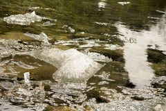 Ice in the river Stock Photography