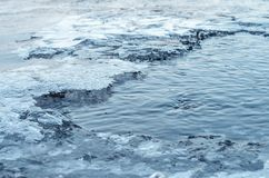 Ice on the river. Royalty Free Stock Photography