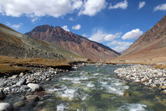 Ice river high in himalayan mountains Royalty Free Stock Photos