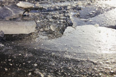 Ice on the river. Stock Image