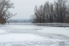 Ice on the river. Photo from ice on a melting river stock photography