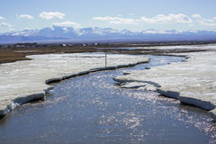 Ice on the river in spring Stock Photography