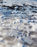 Ice on the road Royalty Free Stock Image