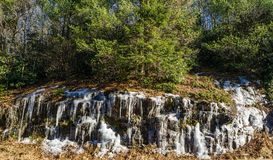 Ice on a Rock Formation – Blue Ridge Parkway. Winter ice formation located on the Blue Ridge Parkway, Floyd County, Virginia, USA royalty free stock images