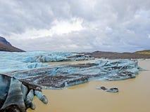 Ice rocks floating on Jokulsarlon lagoon Iceland Stock Photo