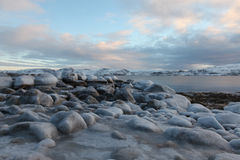 Ice rocks Stock Photography