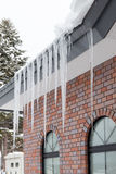 The ice on the roof Royalty Free Stock Photos