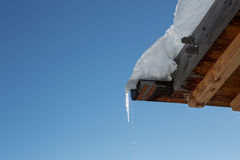 Ice on the roof Royalty Free Stock Photo
