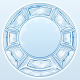 Ice round frame Stock Photography