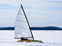 Ice sailing Stock Photo