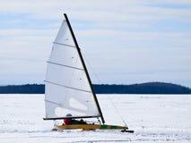 Ice sailing. On the frozen lake Stock Photo