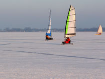 Ice sailing in winter Royalty Free Stock Photos