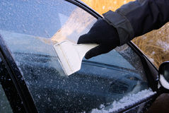 Ice scraping Stock Image