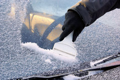 Ice scraping Royalty Free Stock Image